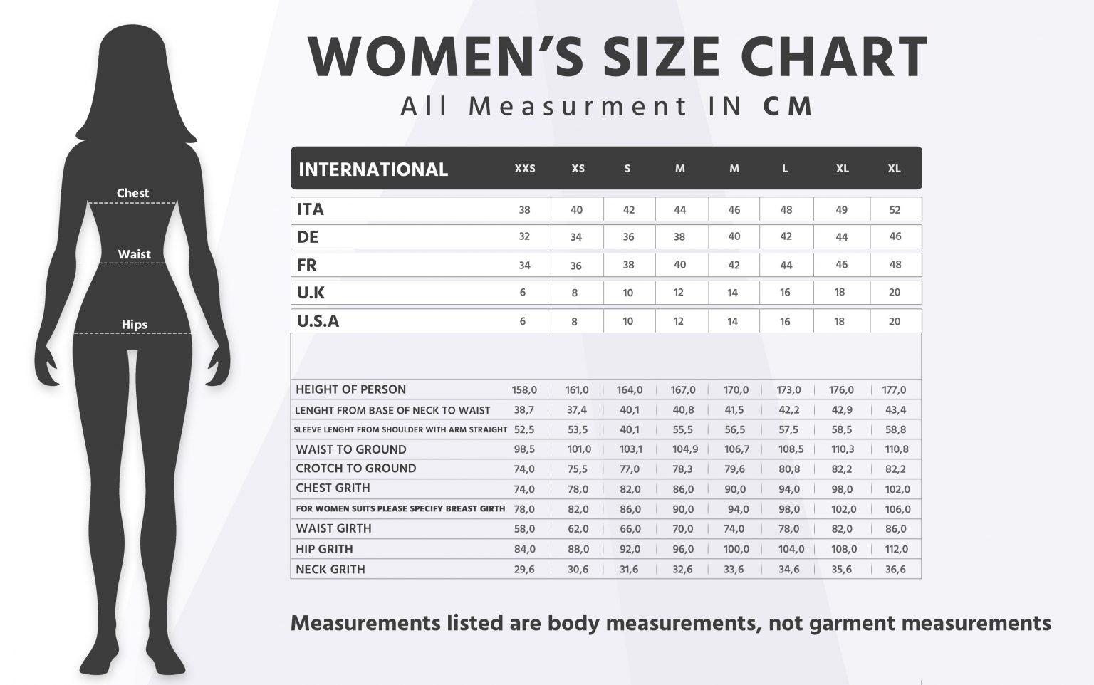 Womens Size Chart