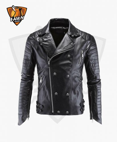 Black New Style Mens Leather Jacket Fashion Leather Jacket