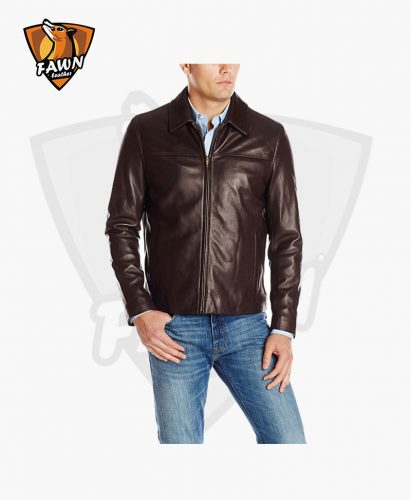 Men's Fashion Smooth Collar Biker leather Jacket