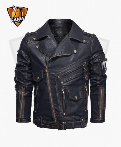 Men's Faux Fashion Leather Motorcycle Leather Jacket