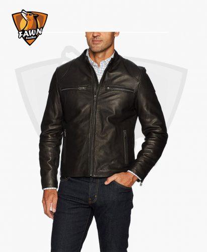 New Men's Fashion Leather Moto Biker Jacket