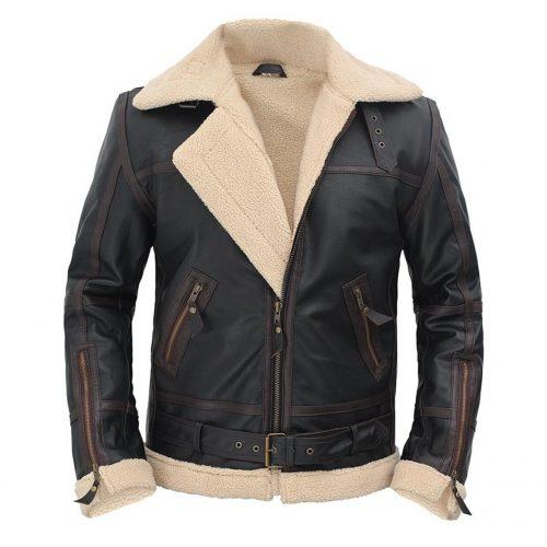 Alexander Shearling Flight Mens Leather Jacket